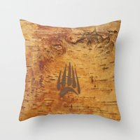 birch Throw Pillows featuring Birch by Shaun Hedican