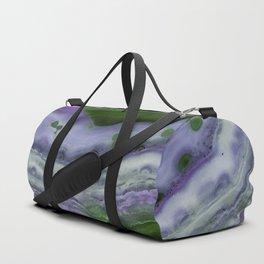 Purple and Green Agate Duffle Bag