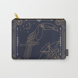 Toucan Gold on Black Carry-All Pouch