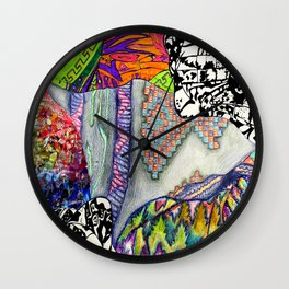 Mixed Media Wall Clock
