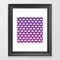 Elephants In Love (Purple) Framed Art Print