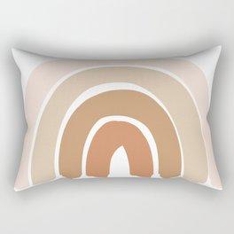 Bohemian Rainbow Neutral Warm Tone Rectangular Pillow