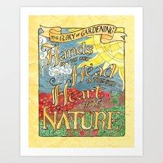 The Glory of Gardening Art Print