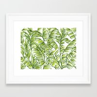 banana leaf Framed Art Prints featuring Banana Leaf by The Paper Apartment