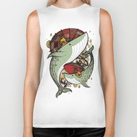 whales Biker Tanks featuring Whales by green penguin