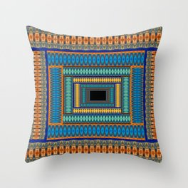 Soul Portal Geometric Print Throw Pillow