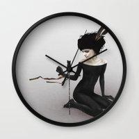 ruben Wall Clocks featuring Every Path by Ruben Ireland