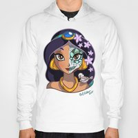 Hoodies featuring Sugar Skull Series: Arabian Princess by Ellador
