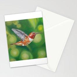 Rufous Hummingbird Painting Stationery Cards