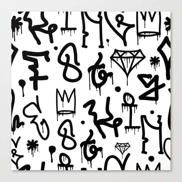 Diamonds & Crowns Canvas Print
