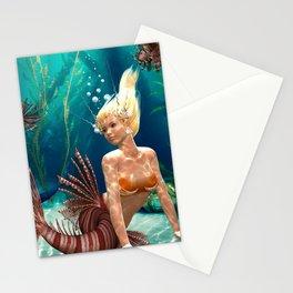 cute mermaid Stationery Cards