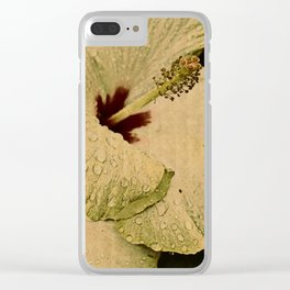 hybiscus Clear iPhone Case