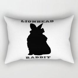 Lionhead Rabbit Silhouette Rectangular Pillow