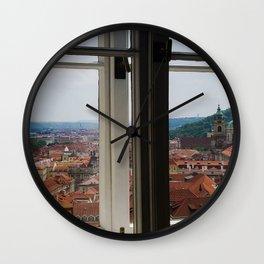 Through the Windows of Prague Castle Wall Clock