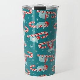 Candy Cane Sloth Travel Mug