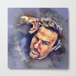 Flanery Watercolor Metal Print