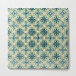 Green Gemstone Pattern No. 8 Metal Print