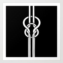 white knot Art Print