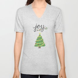 Joy and Christmas Unisex V-Neck