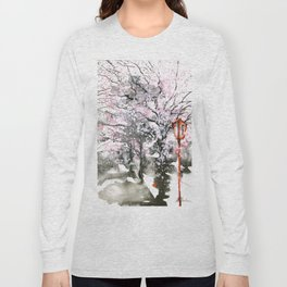 Sumie No.3 cherry Blossoms Long Sleeve T-shirt