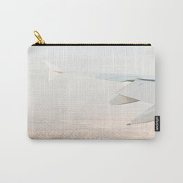 Pastel Plane Window View Photo   Summer Holiday Dubai Air Art Print   Adventure Travel Photography Carry-All Pouch