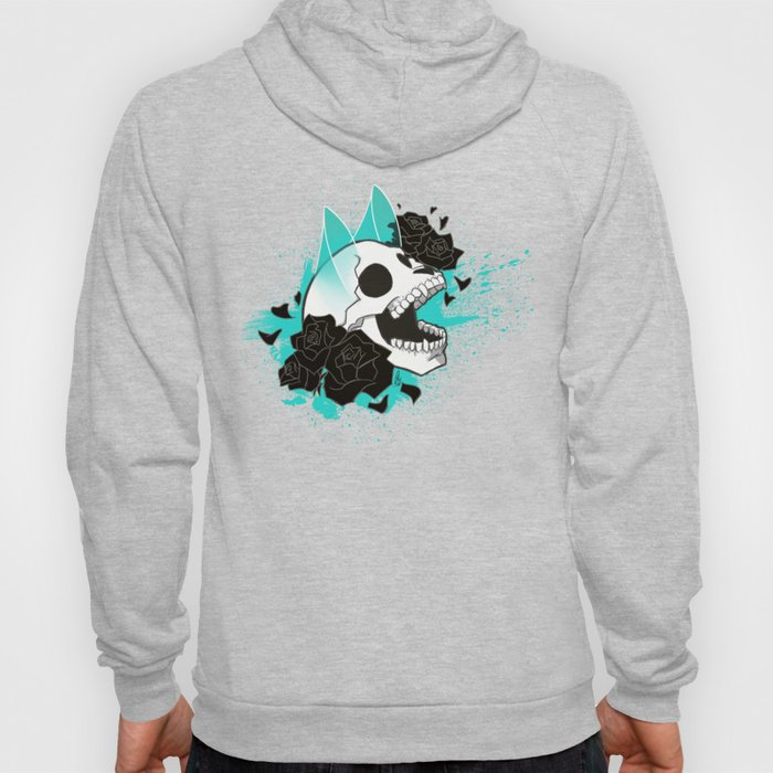Skull 'n' Roses (ScribbleNetty-Colored) Hoody