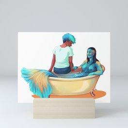 Mermaid Girlfriend Mini Art Print