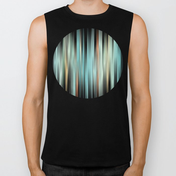 Colorful Abstract Stripes Biker Tank