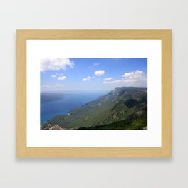 Climb Every Mountain With Wanderlust Framed Art Print