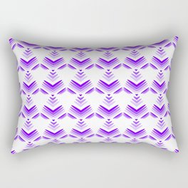Pastel pattern of violet hearts and flowers on a white background. Rectangular Pillow
