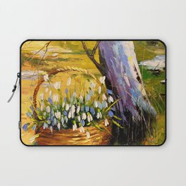 Basket of snowdrops Laptop Sleeve