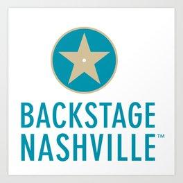 Backstage Nashville 2018 Art Print