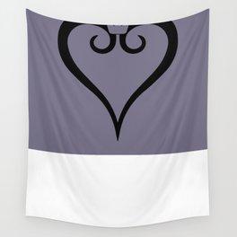 Kingdom Hearts Logo (Black) Wall Tapestry