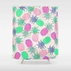 Pineapple Pandemonium Pink Punch Shower Curtain
