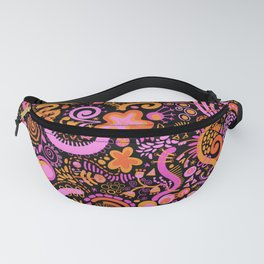 Pink Orange Yellow Zendoodle Fanny Pack