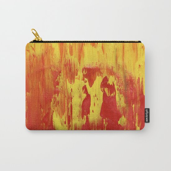 Yellow and Red make Orange Abstract Carry-All Pouch
