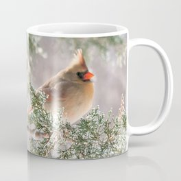 Hoarfrost Cardinals Coffee Mug