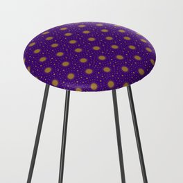 Astrological Purple Stars and Sun Counter Stool