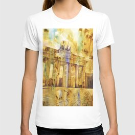 Brandenburg Gate at sunset in the city of Berlin- Germany, Euro T-shirt