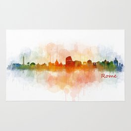 Rome city skyline HQ v03 Rug