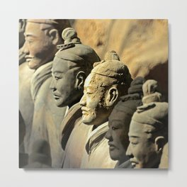 Chinese Terracotta Warriors Metal Print