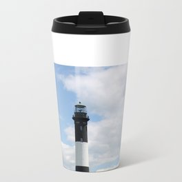 Fire Island Light With Reflection - Long Island Travel Mug