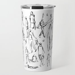 People Of the Beach : Short Sands, OR Travel Mug