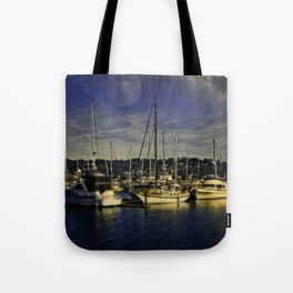 Newport Oregon Yaquina Bay - Sleeping Ships Tote Bag