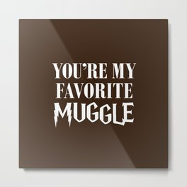 You're my favorite muggle Metal Print