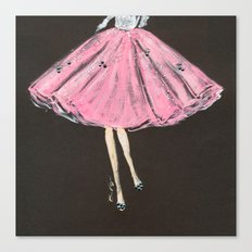 Jolie Pink Fashion Illustration Canvas Print