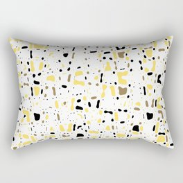 Coffee spots, simple abstract illustration in delicate colors,texture design, pattern Rectangular Pillow