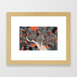 Southampton Multicoloured Print Framed Art Print