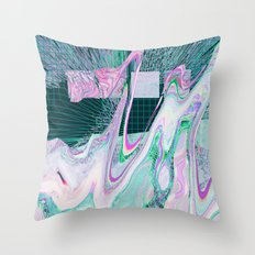 Melting in Space Throw Pillow