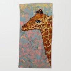 Baby Giraffe Beach Towel